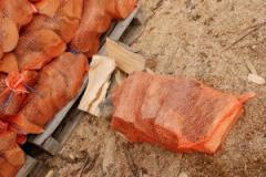 Drewno pakowane w worki raszlowe
