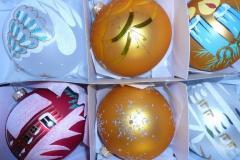 Ozdoby choinkowe szklane- Bombki