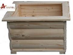 Drewniana doniczka 54x54x38cm
