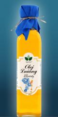 Olej lniany Złocisty o znakomitych walorach smakowych.
