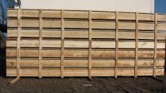 Skrzynie drewniane o długości 7,5m