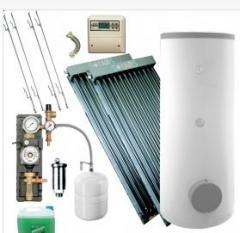 Kompletne zestawy solarne do ogrzewania wody użytkowej.