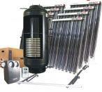 Kolektory słoneczne w zestawach do wytwarzania ciepłej wody użytkowej.