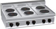 Kuchnia elektryczna 6 palnikowa nastawna Stalgast