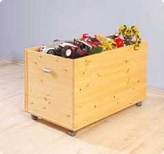 Skrzynia na zabawki sosnowa surowa SOFIE