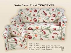 Sofa 3 os. Fotel Teneryfa