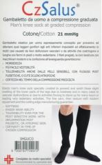 Podkolanówki męskie bawełniane, ucisk 18-22 mmHg