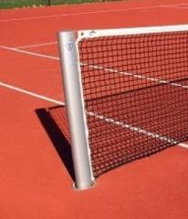Słupki do tenisa.