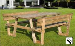 Stół piknikowy z oparciem