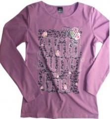 Wrzosowa bluzka dla dziewczynek Girl