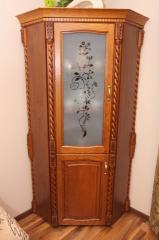 Witryna front drewniny