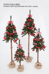 Choinki sztuczne dekorowane tatry na pniu