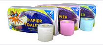 Papier toaletowy ekologiczny 100% makulatury, gofrowany, szary, zielony, różowy