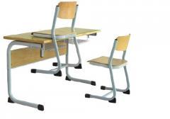 Stolik uczniowski AS Plus 1C z krzesłem typu