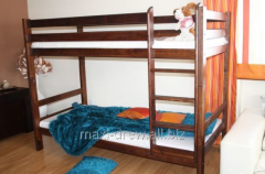 Sturdy bunk bed Adaś made of solid pine wood.
