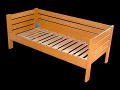 Łóżko młodzieżowe sosnowe 90x200