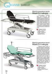 Wózki do przewożenia chorych ICU