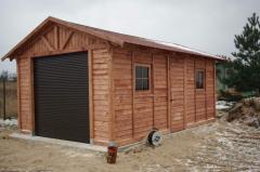 Garaż drewniany wolnostojący