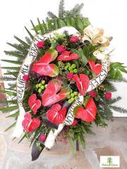 Wieńce i wiązanki pogrzebowe