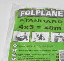 Folia malarska cienka STANDARD FOLPLANE (4x5m)