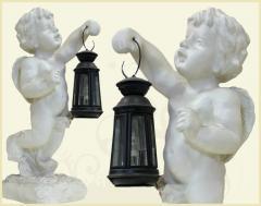 Kolumny, figury, amorki
