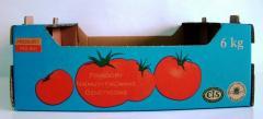 Pudła kartonowe składane do warzyw i owoców
