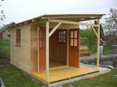 Domek drewniany 3m x 3m + 1,2m taras