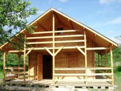 Dom letniskowy drewniany 5 x 5 z poddaszem
