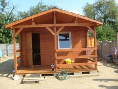 Dom letniskowy drewniany 4 x 4 bez poddasza