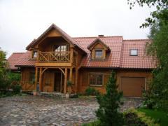 Bartek 4 Dom z bala prostokątnego 12cm o powierzchni użytkowa 140m2