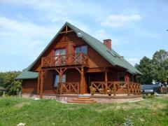 Dom z bala okrągłego ø20cm,145m²