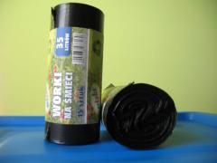 Worki na śmieci LDPE króka rolka , mocna gruba folia
