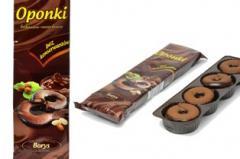 Oponka kakaowa z nadzieniem orzechowym - pakowana 300g