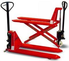 Pallet trolleys with lifter