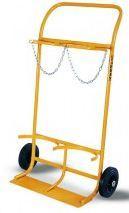 Wózki do transportu butli gazowych.