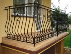 Balustrady balkonowe lakierowane proszkowo.