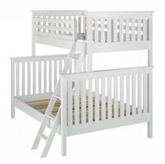 Łóżko piętrowe - kolor biały