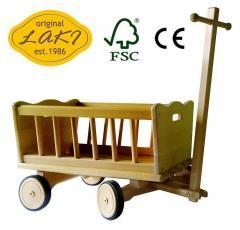 Wózek drewniany FSC WZ12M - 06 Mały