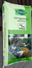 Torf ogrodniczy odkwaszony do zakładania i