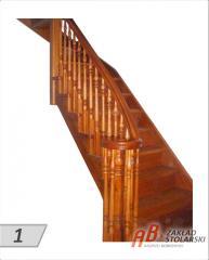Schody na konstrukcji drewnianej