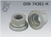 Nakrętki do kół z ruchomą podkładką DIN 74361 H, stal kl. 10, geomet.111