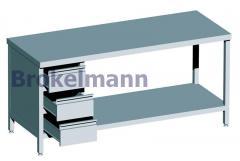 Stół roboczy z blokiem szuflad i półką
