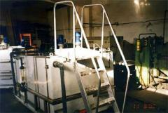 Equipment for the production of fermented milk