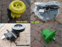 Gear axle for side cutter drive: