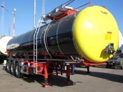 Naczepy do transportu mas bitumicznych