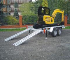 Lawety do transportu koparek od 1400 do 3500 kg