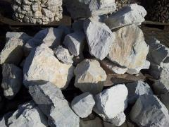 Bryła Biała kamień łamany naturalny