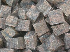 Kostka granitowa gnejs