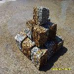 Kostka granitowa szaro-ruda