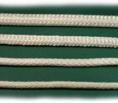 Liny poliestrowe, białe, plecione